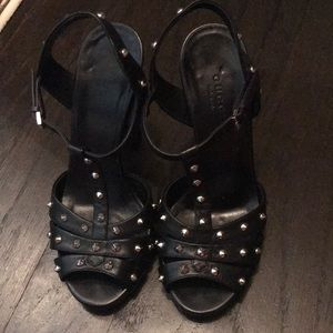 Gucci studded heels